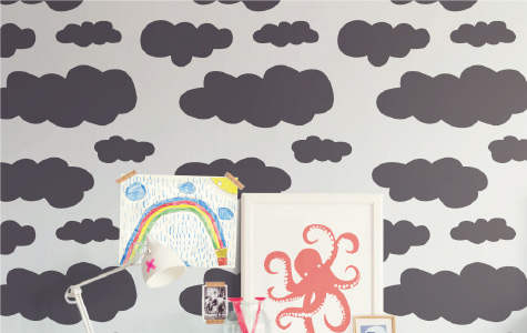 Cloud Wall Stickers for kids rooms