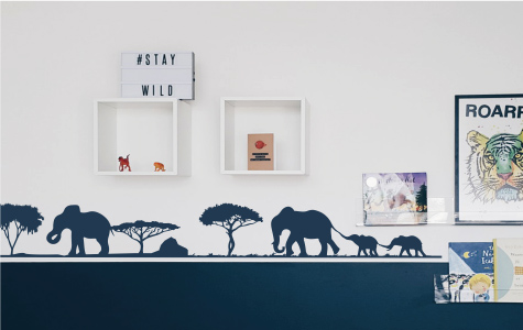 elephant vinyl wall stickers for kids rooms