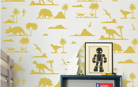 dinosaur wall stickers for kids rooms