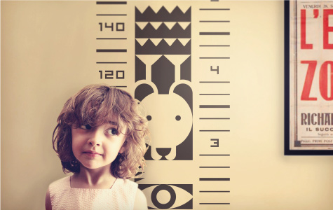 height chart wall stickers for kids rooms