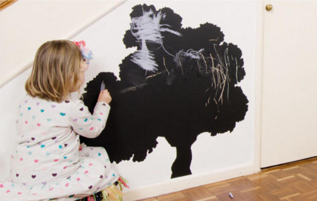 Oak tree shaped vinyl blackboard