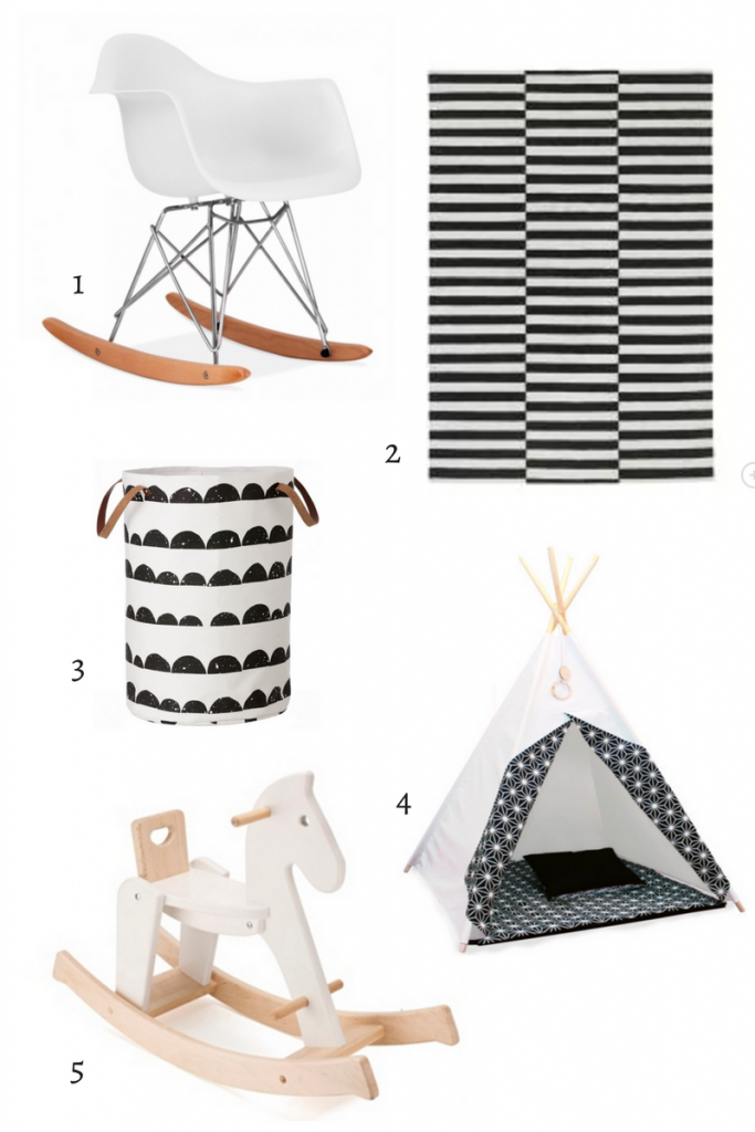 Black and white nursery shop