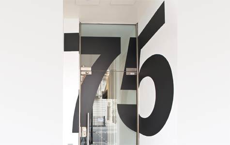 Vinyl door numbers