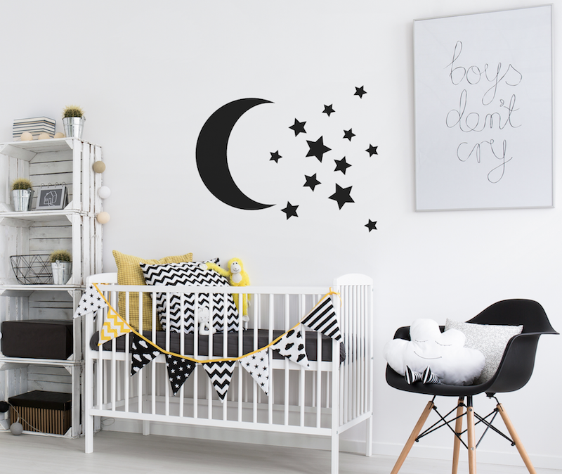 Moon and stars wall stickers for kids