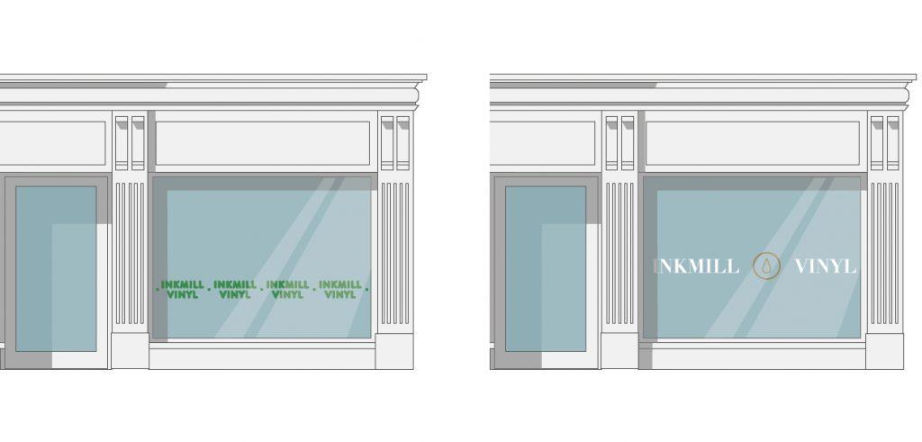 Vinyl decal designs for shop windows