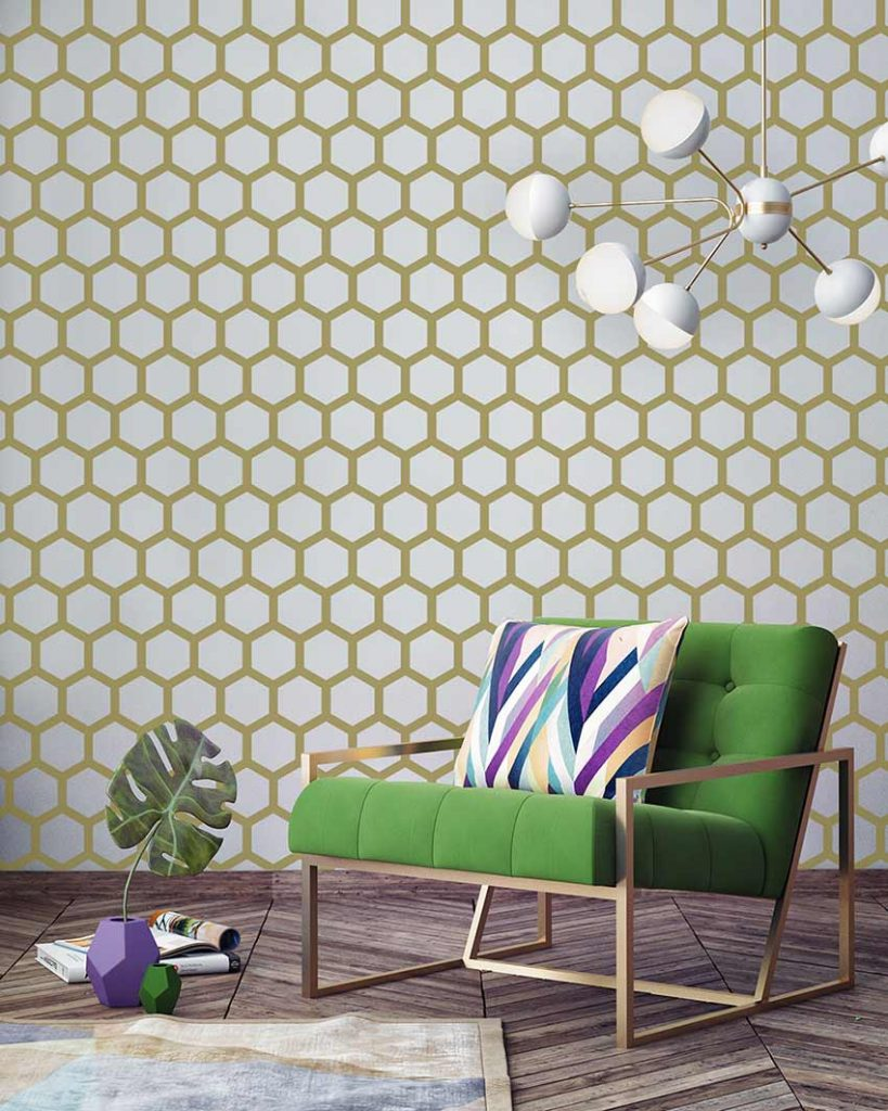 Gold-Hexagon-Pattern
