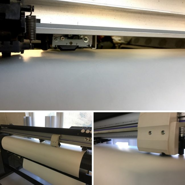 Plotting machine for cut vinyl / not printed sticker