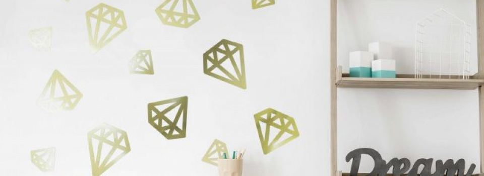 Lovely Great Ideas for Metallic Gold Vinyl Wall Stickers and Letters BE29