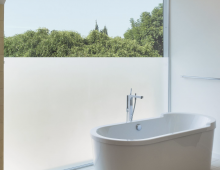 Simply stunning frosted bathroom window designs
