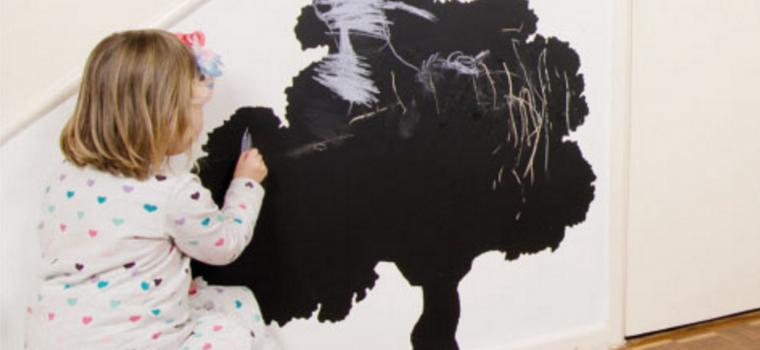 Forget blackboard paint – blackboard vinyl makes life so much easier