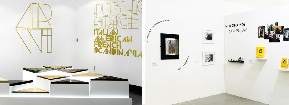 Vinyl Text at Exhibitions, Galleries and Trade Shows